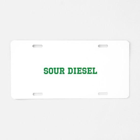 Sour Diesel Aluminum License Plate