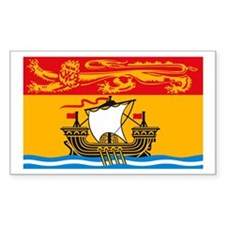 New Brunswick Flag Rectangle Decal