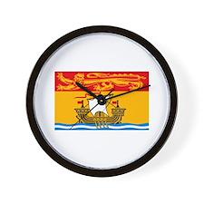 New Brunswick Flag Wall Clock