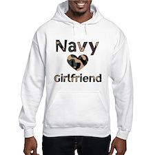 Navy Girlfriend Heart Camo Hoodie