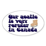 Popular goalie Oval Sticker