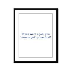 Job / First Framed Panel Print