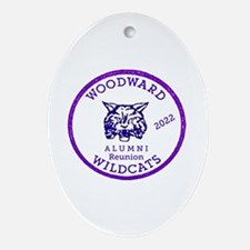 Charles W. Woodward  Wildcats Oval Ornament