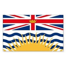 British Columbia Flag Rectangle Decal