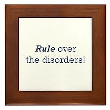 Rule / Disorders Framed Tile