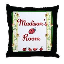 Custom Little Ladybugs Throw Pillow