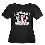 New Zealand Women's Plus Size Scoop Neck Dark T-Sh