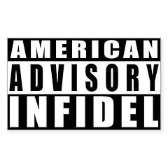 Advisory: American Infidel Rectangle Decal