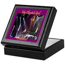 Cheetah Girl Purple Keepsake Box