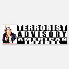 Advisory: American Infidel Bumper Bumper Bumper Sticker