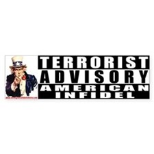 Advisory: American Infidel Bumper Bumper Sticker