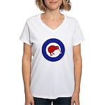 New Zealand Women's V-Neck T-Shirt
