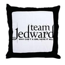 Team Jedward Throw Pillow