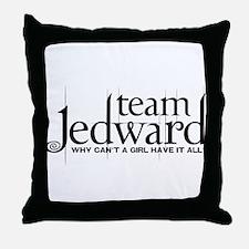 Team Jedward Throw Pillow