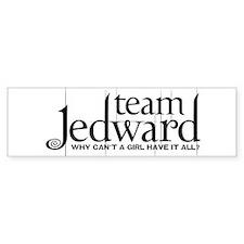 Team Jedward Bumper Sticker