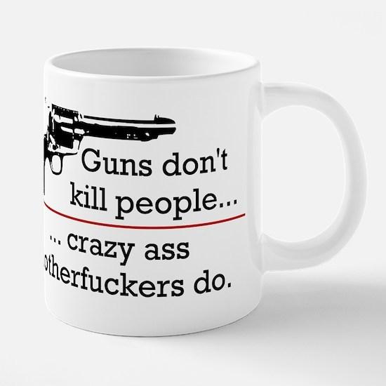 gunsdontkillpeople.png 20 oz Ceramic Mega Mug