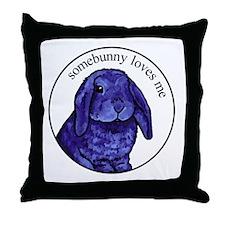 Somebunny Throw Pillow
