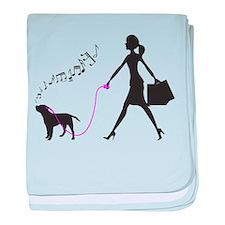 Border Terrier baby blanket