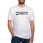Cheney's Got A Gun Fitted T-Shirt