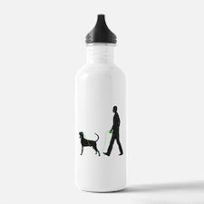 Black & Tan Coonhound Water Bottle