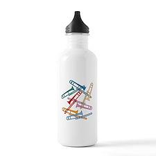 Colorful Trombones Water Bottle