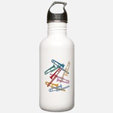 Colorful Trombones Water Bottle