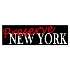 Preserve New York Bumper Bumper Sticker