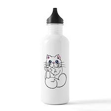 Longhair ASL Kitty Water Bottle