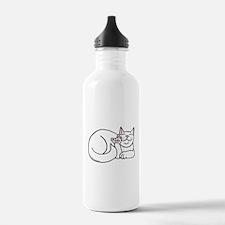 White ASL Kitty Water Bottle