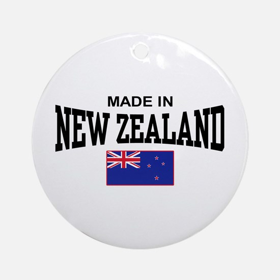 Made In New Zealand Ornament (Round)