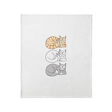 3 ASL Kitties Throw Blanket