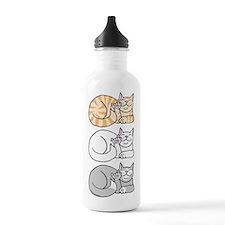 3 ASL Kitties Water Bottle