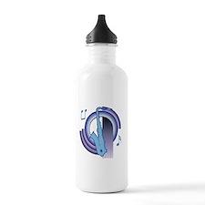 Saxophone Deco2 Sports Water Bottle