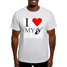 I Heart My Chainsaw Ash Grey T-Shirt