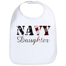 Navy Daugther Flag Bib