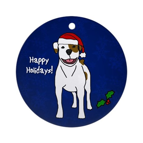 American Bulldog Christmas Ornament