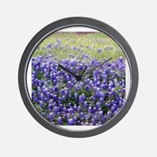Texas Field of Blue Wall Clock