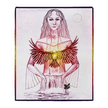 River Spirit sketch Blanket (two-sided)
