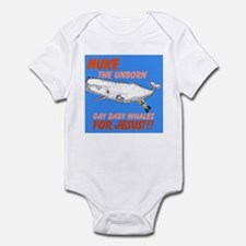 Nuke the unborn gay baby whal Infant Bodysuit