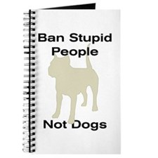 Cute Ban stupid people Journal