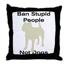 Cute Bsl breed specific legislation Throw Pillow