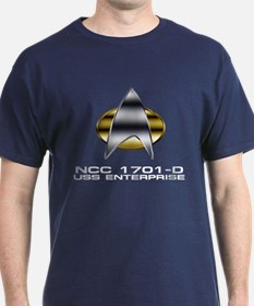 Enterprise-D chrome badge T-Shirt