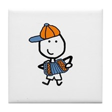 Boy & Accordion Tile Coaster