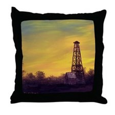 'Old Derrick Sunset' Throw Pillow