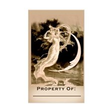 """Maid in the Moon Book Plate (Large 3""""x5"""" Sticker)"""