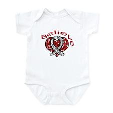 LungCancer MosaicHeart Infant Bodysuit