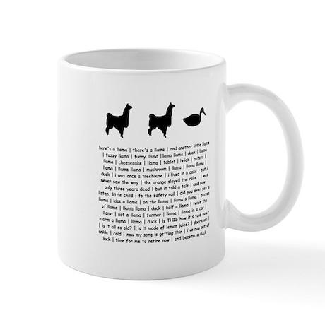 llama_white_t Mugs