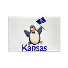Kansas Penguin Rectangle Magnet