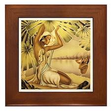 'Bathing Hawaiian Beauties' Framed Tile