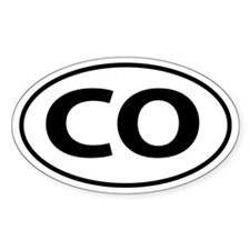 CO Oval decal sticker (Oval)